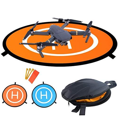 LVHERO Drone Landing Pad, Landing Pad Pieghevoli Portatili Impermeabili Universali D 55cm per Elicotteri RC Drones, Droni PVB, DJI Mavic PRO Phantom 2/3/4 / PRO, Antel Robotic, 3DR Solo