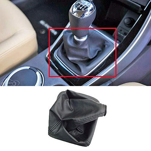 Speedwav Car Gear Lever Leatherette Cover Black For Hyundai i10 Boot_Lever-345