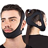 Sleep Legends Premium Anti Snoring Chin Strap w/New Adjustable Hook 'N Loop Strap for Cpap Users - [2021 Release] - Snore Reduction Device - Snore Stopper Solution Men, Women