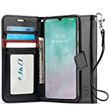 J&D Case Compatible for Galaxy A70 Case, [Wallet Stand] [Slim Fit] Heavy Duty Protective Shock Resistant Flip Cover Wallet Case for Samsung Galaxy A70 Wallet Case - Black