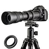 Jintu teleobiettivo zoom 420 800 mm, F/8.3 16, Full Frame, messa a fuoco manuale, per fotocamera digitale Nikon D7100 D80 D90 D600 D5000 D5100 D3200 D7000 D7200 DSLR + borsa custodia in pelle