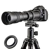 JITNU 420–800mm Super Téléobjectif Zoom Lentille Mise au point manuelle...
