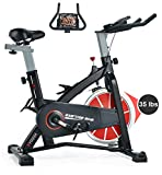 SYRINX Indoor Cycling Bike-Belt Drive Indoor Exercise Bike,Stationary Cycle Bike for Home Cardio Gym Workout