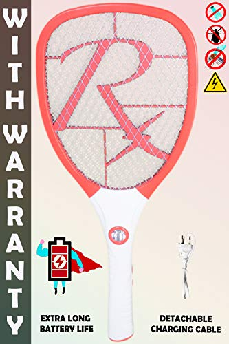 WEIRD WOLF Rechargeable High Range Mosquito Killer Racket Bat with Warranty (Multicolour)