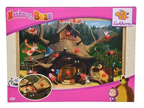 Eichhorn 109304085 - Puzzle Masha e l'orso, con 12 Scomparti, 30 x 20 cm