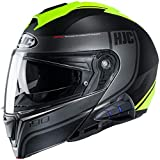 HJC i90 Modular Motorcycle Helmet With Sena 10B Bluetooth Headset Davan MC3HSF Medium