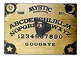 Mystic Oracle Ensemble de Table en Bois Fini à la Main avec Solaire, Planchette et étoiles Style Ouija Classique