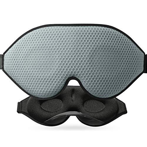 Antifaz para dormir 3D para la oscuridad absoluta, gafas de dormir desarrolladas para hombres y mujeres, con orificios de ventilación de tejido transpirable, antifaz con correa ajustable para viajes