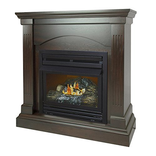 Pleasant Hearth 36 Compact Tobacco Natural Gas Vent Free Fireplace System 20,000 BTU