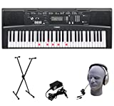 Yamaha EZ-220 61-Lighted Key Portable Keyboard Package with Headphones, Stand and Power Supply