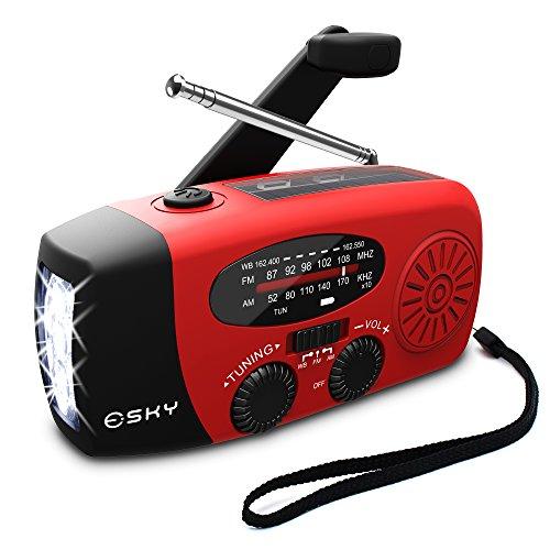 Esky [Upgraded Version] Portable Emergency Weather Radio...