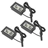IWILCS Hygromètre à thermomètre 3 pièces, Mini thermomètre numérique LCD,...