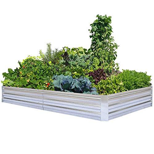 Galvanized Raised Garden Beds for Vegetables Large Metal Planter Box...