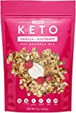 Low Karb - Keto Vanilla Raspberry Nut Granola Healthy Breakfast Cereal - Low Carb Snacks & Food - 3g Net Carbs - Gluten Free, Grain Free - Almonds, Pecans, Coconut and more (11 oz)