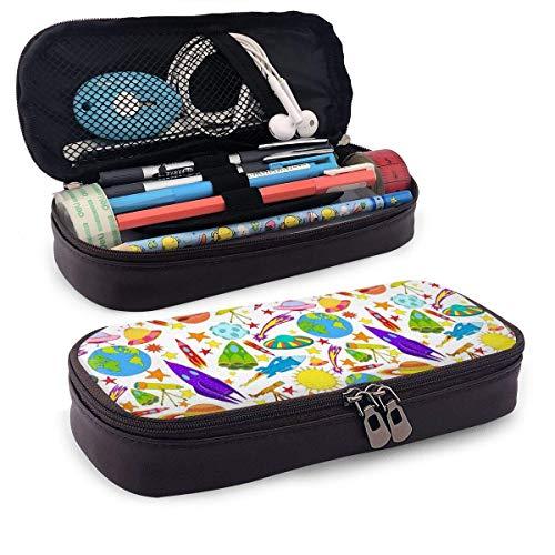 Astuccio Nave spaziale UFO Rocket Modello a tema colorato Mini School Portamatite Tasca per ufficio Scatola per penne...