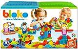 BLOKO – 503625 – Coffret de 150 'BLOKO' avec 2 plaques de jeu et 2 figurines Famille – Dès 12 mois – Fabriqué en EUROPE – Jouet de construction
