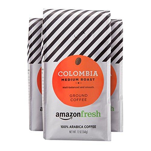 AmazonFresh Colombia Ground Coffee, Medium Roast