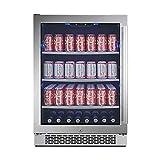 Avallon ABR241SGLH 140 Can Built-In Beverage Cooler - Left Hinge