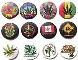 Marihuana pipa semillas #5 wesome calidad lote 12 nuevos pines botones insignia 1.2 pulgadas