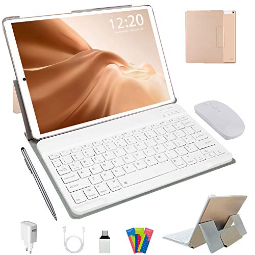 Tablette Tactile 10 Pouces 4G LTE, Android 10.0 64Go, 4Go de RAM Tablette...