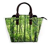 keben Selva tropical verde fresca Reserva natural salvaje tropical Tendencia de moda desmontable Bolso de hombro para mujer Bolsos de mensajero
