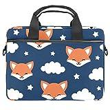Cute Fox Good Night - Maletín para portátil de 13,4 a 14,5 pulgadas, bandolera de hombro para ordenador y tablet para hombre