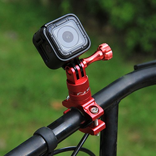 PULUZ 360 Degree Rotation Aluminum Bicycle Bike Handlebar Adapter Mount with Screw for GoPro HERO 6 / 5 / 4 / 3+ / 3/ 2/ 1 Session 5 / 4, Xiaoyi Sport Camera