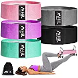 MhIL 5 Resistance Bands Set - Best Exercise Bands, Booty Bands for Women and Men, Workout Bands for Working Out Legs, Butt, Glute- Stretch Fitness Bands for Gym, Weights & Squats, Thick Elastic Fabric