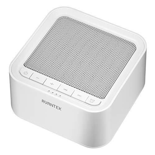 White Noise Machine, AVANTEK Sound Machine for Sleeping, 20 Non-Looping Soothing Sounds with High Quality Speaker & Memory Function, 30 Levels of Volume and 7 Timer Settings