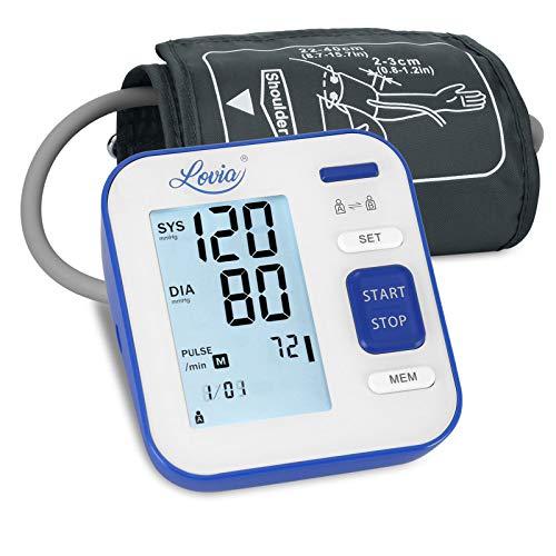 Blood Pressure Monitor Upper Arm, LOVIA Accurate Automatic Digital BP Machine for Home Use & Pu…