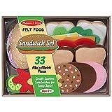 Melissa & Doug Felt Food Sandwich Play Food Set (33 pcs) (Toy)