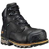 Timberland PRO Men's Boondock 6' Composite Toe Waterproof Industrial & Construction Shoe, Black Full Grain Leather, 15 W US
