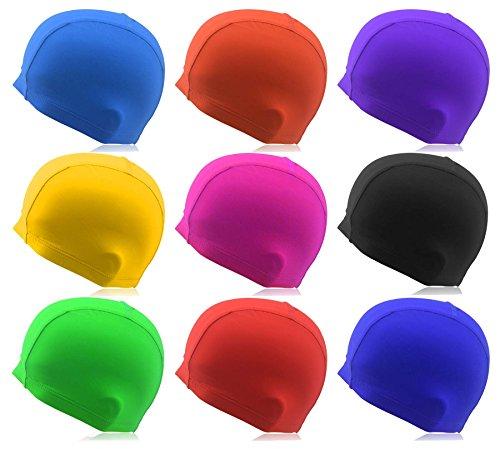 #DoYourSwimming® Badekappe aus Stoff für Erwachsene & Jugendliche - elastische Bademütze Badehaube Schwimmbaube - Navyblau