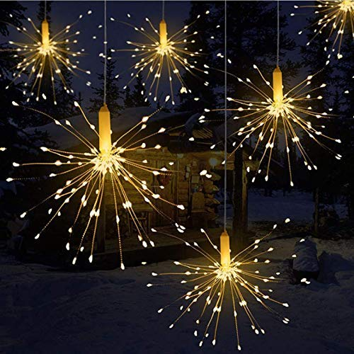 Luci decorative a LED per fuochi d'artificio per esplosione con fili di rame 180 luci LED.