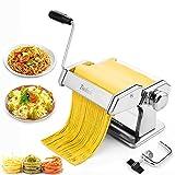 Tooluck Machine à pâtes Laminoir à Pâtes , Coupeur 2 en 1, 7 Réglages d'épaisseur, pour Pâtes Maison, Spaghetti, Macaroni, Lasagnes ou Croûte de Boulettes, Meilleur Ensemble-Cadeau de Cuisine.