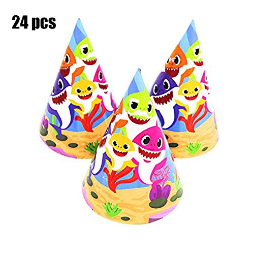 Baby Cute Shark Birthday Party Hats Shark Theme Party Supplies- Shark Family Baby Shower Birthday Party Decorations