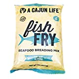 A Cajun Life Fish Fry Seasoning | Pre Seasoned Fish Breading Mix | Authentic and Certified Cajun, Non-GMO, No MSG, Great on All Types of Seafood.