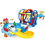 ZAYOR Track Train Car Toy Set for Kids,Electric Shuttle Assembled Track Building Train Toy Gifts for Boys Girls Kids Preschool Toys Gifts 3 4 5 6 7 Years Old Up
