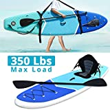 Zupapa Inflatable Stand Up Paddle Board 32 Inches Wide 10 FT Non Slip Deck 352 lbs Maxload Kayak Convertible for Adults Kids(Blue)