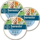 Bayer 3PACK Seresto Flea Tick Collar for Cats
