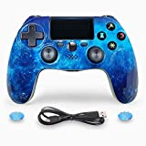 ISHAKO PS4 Controller Wireless Dual Shock Gaming Gamepad with Touch Pad High-Precison Controller for Sony Playstation 4 / PS4 Pro/Slim/PC - Blue