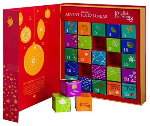 English Tea Shop Calendario dell'Avvento di Té Biologici Goditi i Nostri Deliziosi Té con i Tuoi Cari Durante la Stagione delle Feste - 1 x 25 Tea Bags (13 Different Flavours - 50 Gram)