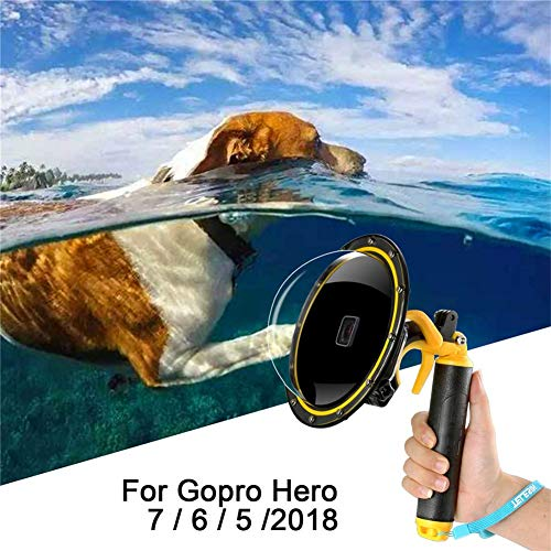 Sjpzwcrl per GoPro Dome Port, per Gopro Hero Nero Accessori Dome GoPro Lente Subacquea a Cupola Custodia Impermeabile Muta da Sub con grilletto Pistola per Action Camera