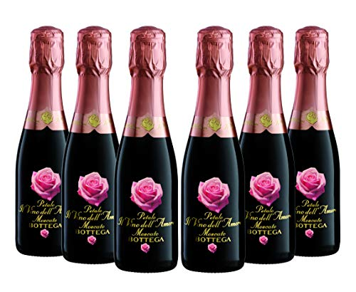 Bottega Petalo Amore Moscato Spumante - Birillo - 6 Bottiglie da 200 ml