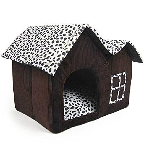 Luxury High-End Double Pet casa marrón para perro 55x 40x 42cm