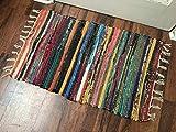 Handwoven Multicolored Rag Rug/Carpet for Living Room, Kitchen Floor 20'x32'