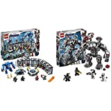 LEGO Super Heroes - Iron Man: Sala de Armaduras + LEGO Super Heroes - Depredador de Máquina de Guerra, Robot de Juguete para recrear Las Aventuras de los Vengadores