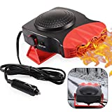 Car Heater, Portable Electronic Auto Heater Fan Fast Heating Defrost 12V 150W Car Defrost Defogger, 2 in 1 Heating/Cooling Function 3-Outlet, Plug Adjustable Thermostat in Cigarette Lighter(Red)