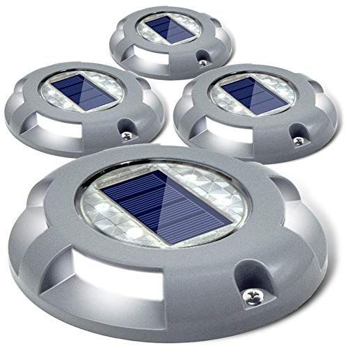 Siedinlar Solar Deck Lights Driveway Dock LED Light Solar Powered...