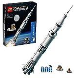 LEGO Ideas Saturn V Apollo NASA, Razzo Spaziale con Veicoli, Set di Costruzioni per Collezionisti di Astronavi con Espositore, 92176